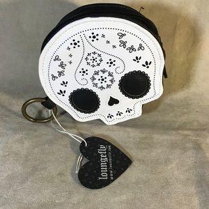 Loungefly Skull Clutch Purse Wallet